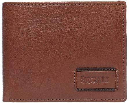 Pánská kožená peněženka SEGALI 70076 tmavý koňak