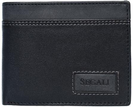 Pánská kožená peněženka SEGALI W 70077 černá/šedá