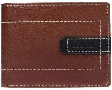 Pánská kožená peněženka SEGALI 70078 tmavý koňak