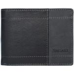 Pánská kožená peněženka SEGALI W 70083 černá/šedá