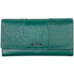 Dámská kožená peněženka SEGALI 10027 safiano zelená
