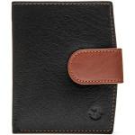 Pánská kožená peněženka SEGALI 61071 černá/tm. koňaková