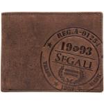 Pánská kožená peněženka SEGALI 614818 B tm. hnědá