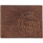 Pánská kožená peněženka SEGALI 614826 tm. hnědá
