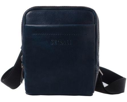 Pánský kožený crossbag SEGALI 2012 tmavě modrý