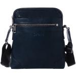 Pánský kožený crossbag SEGALI 346 tm. modrý