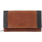 Dámská kožená peněženka SEGALI 61288 WO oranžová/černá