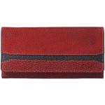 Dámská kožená peněženka SEGALI SG 2025A WO červená/černá