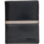 Pánská kožená peněženka SEGALI 720 137 2553 černá/šedá