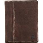 Pánská peněženka 1266  broušená kůže tm. hnědá