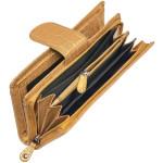 Dámská kožená peněženka SEGALI W 70099 zlatá