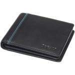 Pánská kožená peněženka SEGALI 2737 černá/tyrkysová