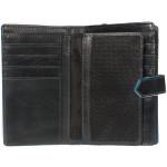 Dámská kožená peněženka SEGALI 3743 černá/modrá