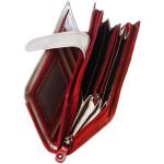 Dámská kožená peněženka SEGALI 668 N saffiano červená/béžová