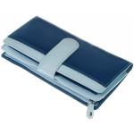 Dámská kožená peněženka SEGALI 668 N saffiano modrá/lehce modrá