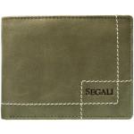 Pánská kožená peněženka SEGALI 02 new hunter zelená