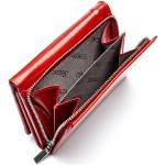 Dámská kožená peněženka SEGALI 60100 B červená/černá