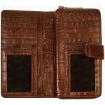 Dámská kožená peněženka SEGALI 910 19 9124 koňaková