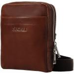 Pánská kožená taška přes rameno SEGALI 2012 koňak
