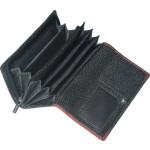 Dámská kožená peněženka SEGALI SG 61288 WO černá/červená