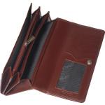 Dámská kožená peněženka SEGALI 2025A koňaková