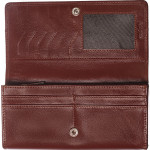 Dámská kožená peněženka SEGALI 2025 A koňaková