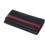 Dámská kožená peněženka SEGALI 2025 A černá/červená