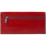Dámská kožená peněženka SEGALI 2025A červená/černá