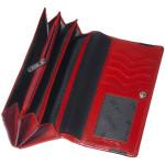 Dámská kožená peněženka SEGALI 2025 A červená/černá