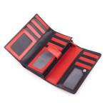Dámská kožená peněženka SEGALI SG 09 micra černá/červená