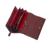 Dámská kožená peněženka SEGALI 6843/C02 portwine