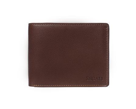 Pánská kožená peněženka SEGALI 81047 hnědá