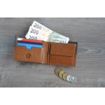 Pánská kožená peněženka SEGALI 80892 koňak/modrá