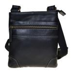Pánská kožená taška přes rameno SEGALI 25575 černá