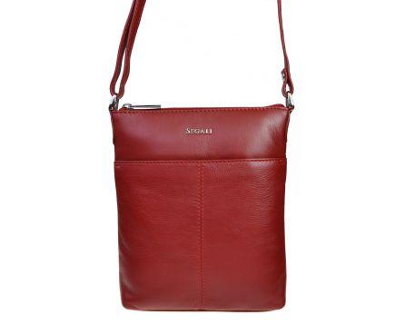 Dámská kabelka kožená SEGALI 7001 červená