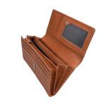 Dámská kožená peněženka SEGALI 7052 koňak