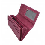Dámská kožená peněženka SG 7052 fucsia