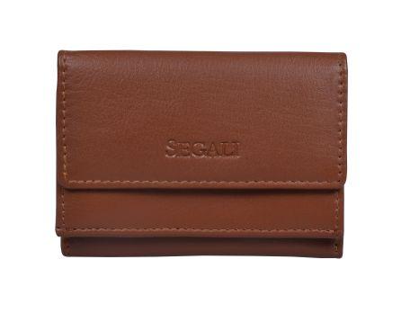 Dámská kožená peněženka SEGALI 1756 koňak