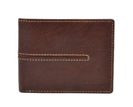 Pánská kožená peněženka s RFID SG 7105 hnědá