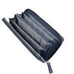 Dámská kožená peněženka SEGALI 7079 modrá/růžová