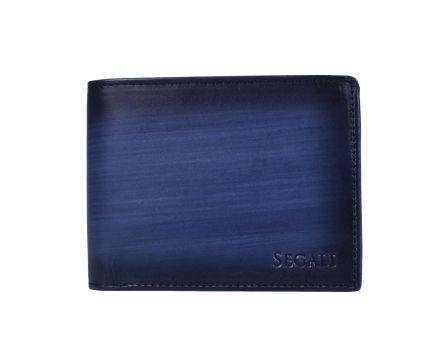 Pánská kožená peněženka SEGALI 929 204 2071 modrá/černá