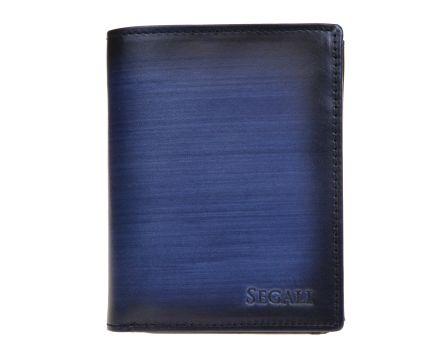 Pánská kožená peněženka SEGALI 929 204 2519 modrá/černá
