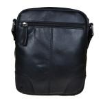 Pánský kožený crossbag SEGALI 25577 černý