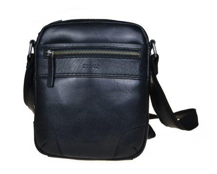 Pánská kožená taška přes rameno SEGALI 25577 černá