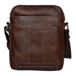Pánský kožený crossbag SEGALI 25578 hnědý