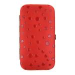 Dámská manikúra SEGALI 230404-036 červená s puntíky