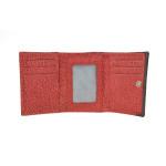Dámská kožená peněženka SEGALI 61420 W červená/černá