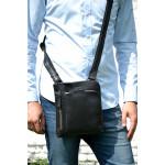 Pánská kožená taška přes rameno SEGALI 25579 černá
