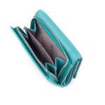 Dámská kožená peněženka SEGALI 61420 tyrkysová/modrá