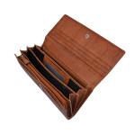 Dámská kožená peněženka SEGALI 7120 koňak